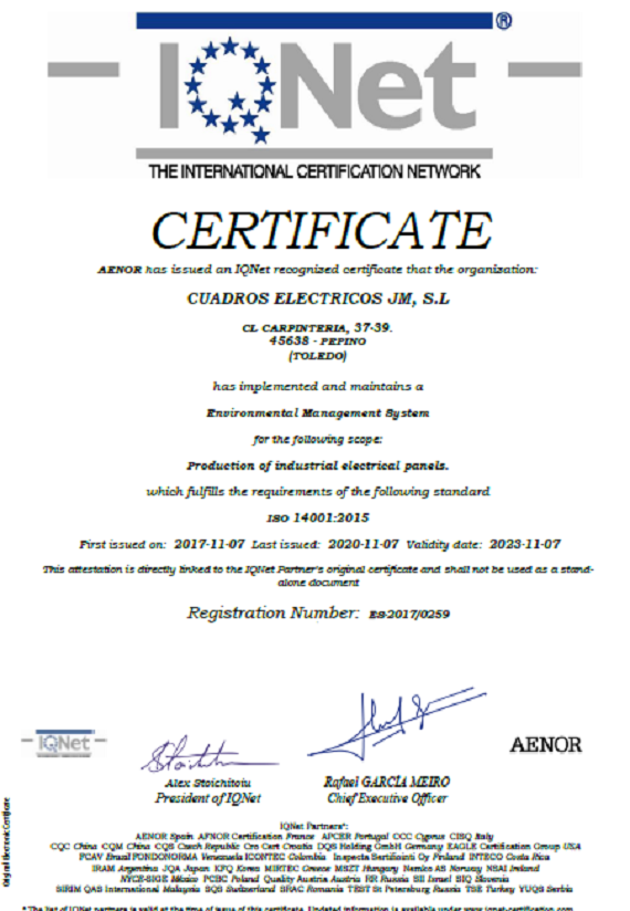 IQNetES-ISO 9001:2015
